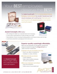 award concepts custom packaging employee recognition
