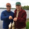 Carl - My father (Award Concepts Vice President) and I with some Northern Pike