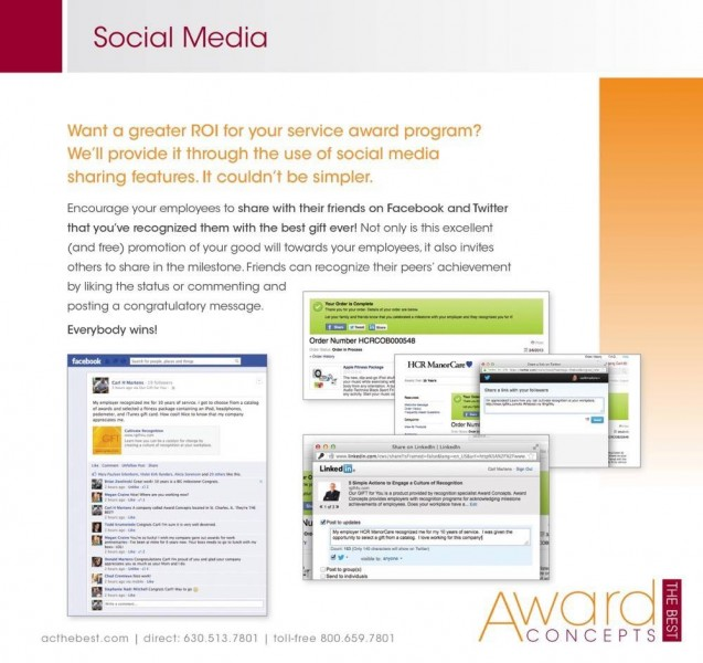 award concepts our gift for you social media