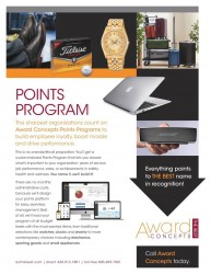 award concepts points program employee recognition